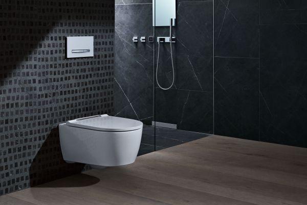 WC in einem Bad.