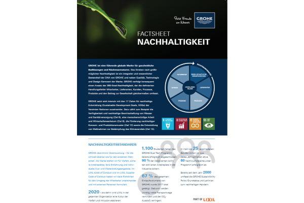Das Bild zeigt Grohe-Werbung zum Thema Nachhaltigkeit.