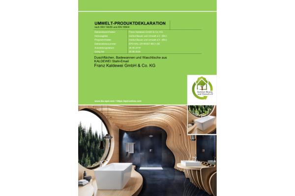 Neue IBU-Umweltproduktdeklaration für Kaldewei
