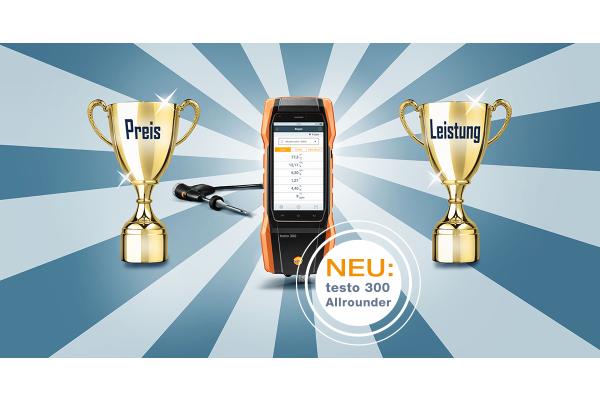 """Neues Abgasmessgerät """"testo 300 Allrounder"""" mit bestem Preis-Leistungsverhältnis"""