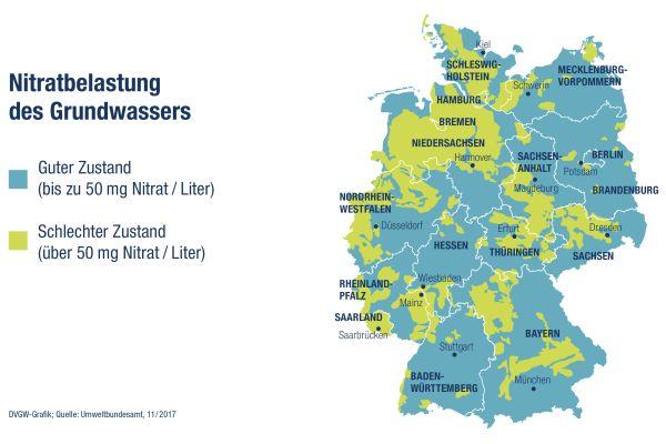 In Deutschland werden rund 70 Prozent des Trinkwassers aus Grundwasser gewonnen.