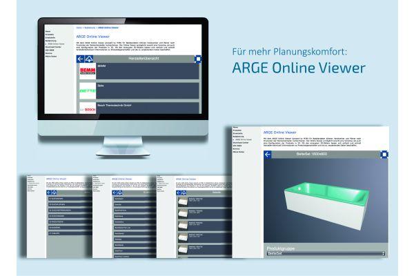 Das Bild zeigt den ARGE Online-Viewer.