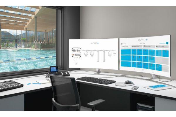 Das Bild zeigt das CNX-Wassermanagement am PC.