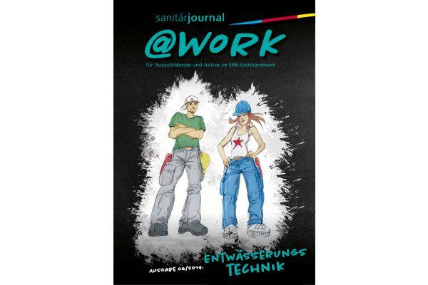 Cover der @work-Ausgabe zum Thema Entwässerungstechnik.