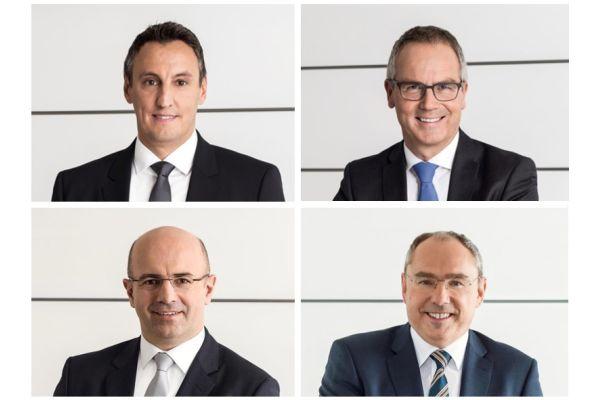 Das Bild zeigt das vierköpfige Vorstandsteam.