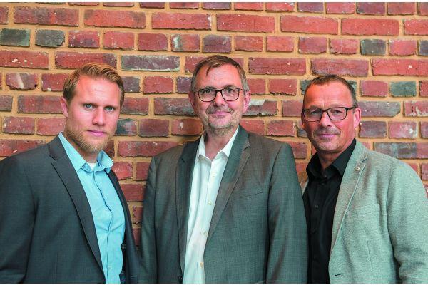 Das Bild zeigt Bernhard Skof, Bernd Heisig, Klaus Hofstetter.