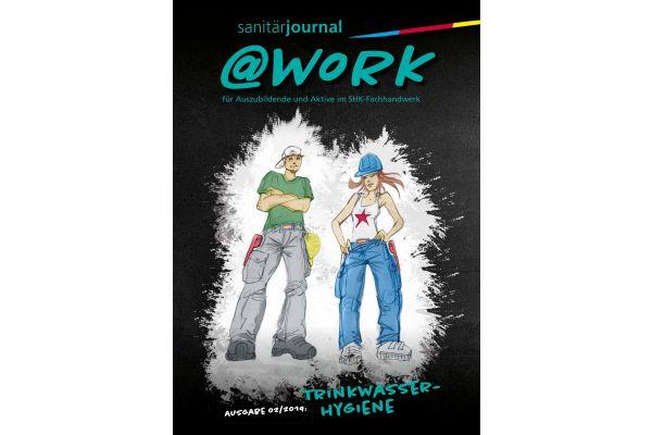 Cover der @work-Ausgabe zum Thema Trinkwasser-Hygiene.