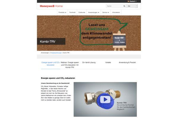 Screenshot der Resideo-Website zum hydraulischen Abgleich.