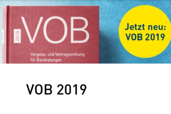 VOB Gesamtausgabe 2019 ist erschienen