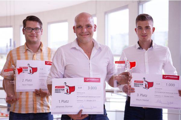 Das Bild zeigt die Gewinner des Meisterpreises.