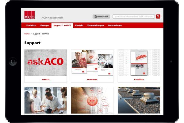 Das Bild zeigt das neue askACO-Tool.
