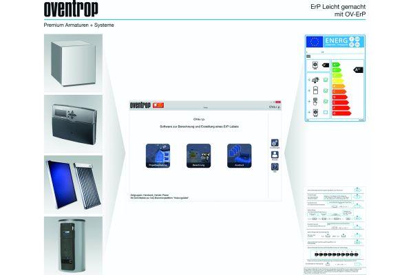 Das Bild zeigt die Oventrop-Software.