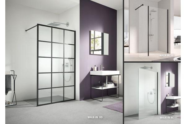 Drei Beispiele für die Dusche