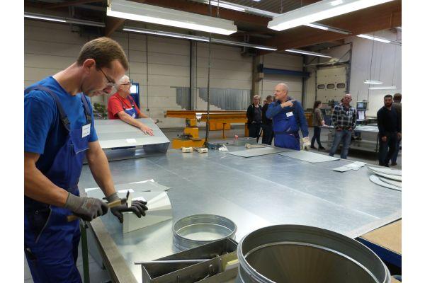 Das Bild zeigt  die Wiedemann- Produktionshalle in Sachsen-Anhalt.