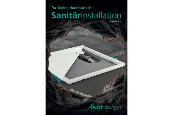 Cover des kleinen Handbuchs der Sanitär-Installation zum Thema Duschlösungen.