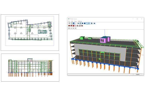 Modell eines Gebäudes in Trimble Nova.