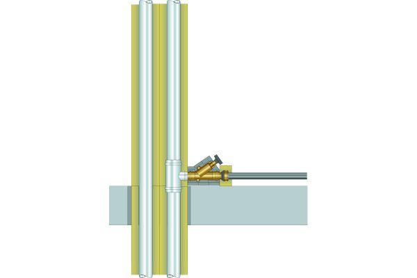 Selbst wenn Systemarmaturen den Werkstoffübergang von Metall- auf Kunststoffleitungen bilden, ist eine aBG oder vBG erforderlich.