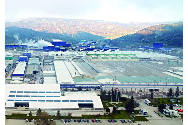 Das Bild zeigt den Produktionskomplex in Bozüyük.