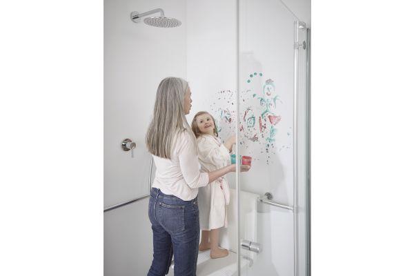 Ein fugenloses Bad steht für freies Denken und fließende Inspiration. Und obendrein ist es noch hygienisch einwandfrei.
