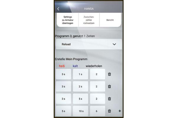 Mit der kostenlosen Hansa-Connect App lassen sich die unterschiedlichen Programme schnell und einfach individualisieren.