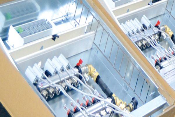 Frischwarmwassersystem von KaMo während der Produktion.