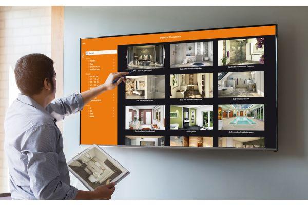Beratung am Bildschirm mit dem Showroom von Palette CAD.