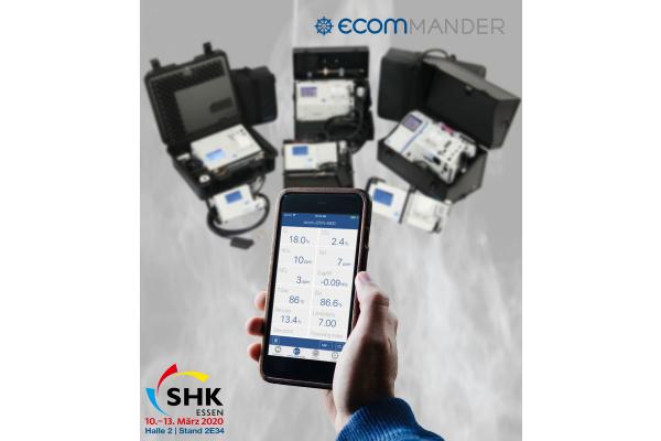 """Intelligent und smart messen mit ecom """"ecomMANDER"""" - Die neue kostenlose App für """"ecom""""-Abgasmessgeräte"""