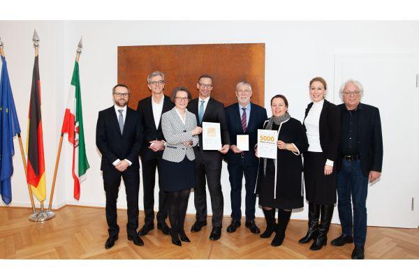 Teilnehmer der Verleihung des 5000. DGNB-Zertifikats.