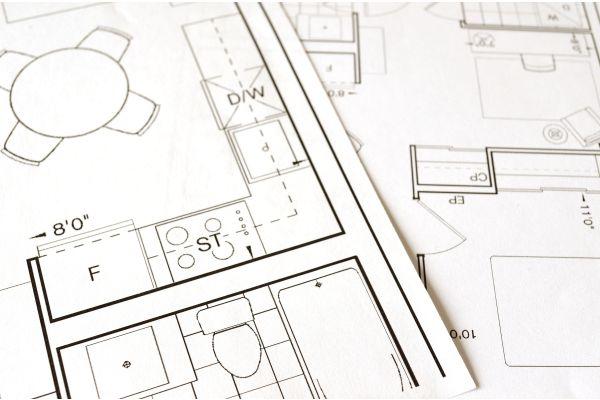 Grundriss einer Wohnung.