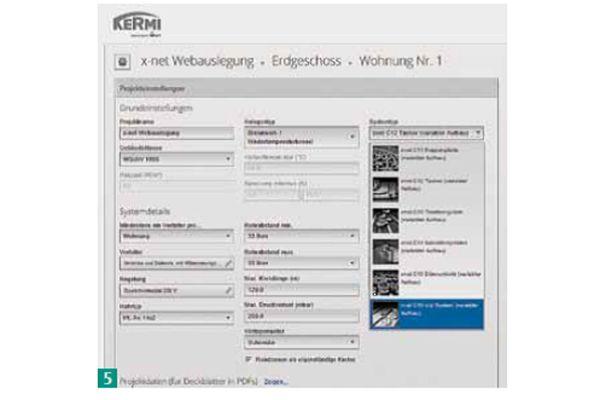 Screenshot der Software von Kermi.