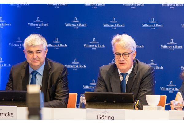 Das Bild zeigt Dr. Markus Warncke (Vorstand Finanzen) und Frank Göring (Vorstandsvorsitzender).