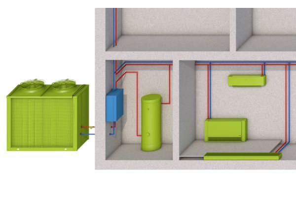 Schema einer Hydraulikbox.