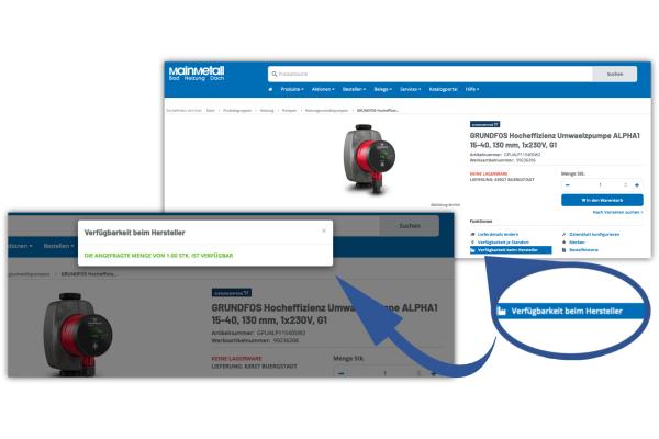 SellSite: Ab sofort mit Verfügbarkeitsanfragen beim Hersteller