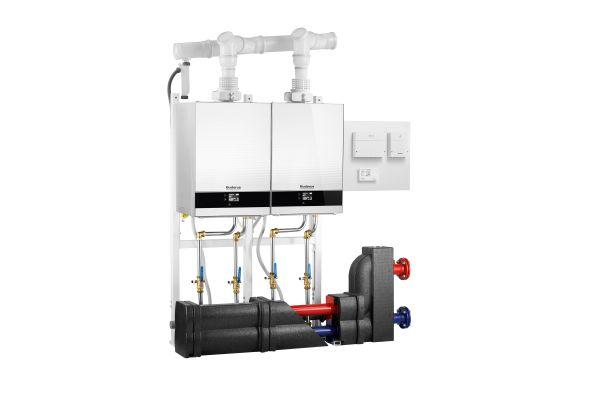 Kaskadensystem aus zwei Gas-Brennwertgeräten