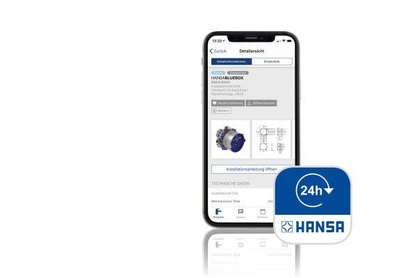 Das Bild zeigt die Hansa-App.