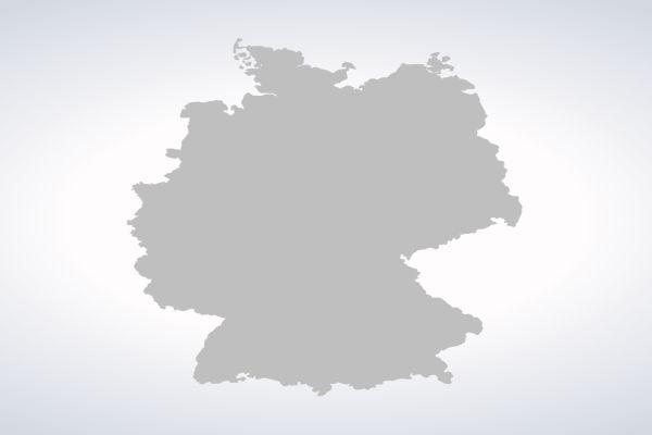 Eine graue Silhouette von Deutschland.
