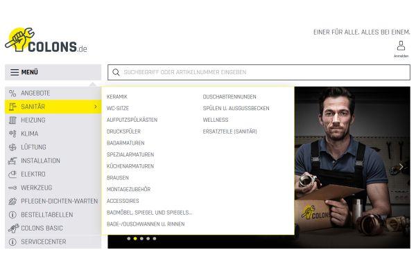 Das Bild zeigt einen Screenshot der Website.