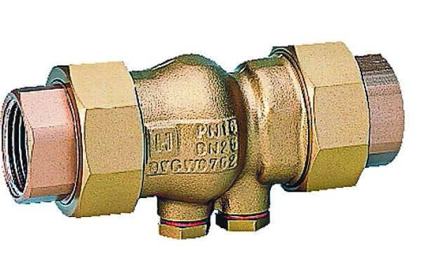 """Der """"Honeywell Home""""-Rückflussverhinderer RV281 von Resideo verhindert selbstständig das Rückdrücken, -fließen und -saugen von Wasser. Während Instandhaltungsmaßnahmen muss die Leitung ablaufseitig unter Druck stehen und es darf kein Durchfluss erfolgen."""