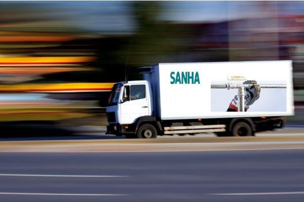 Das Bild zeigt einen Sanha-Lkw.