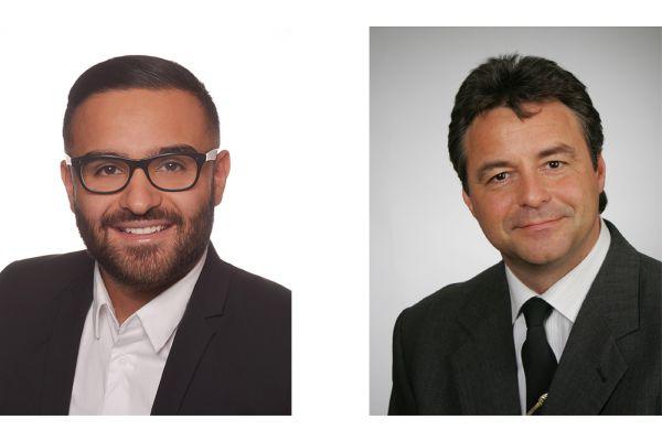 Das Bild zeigt Abdullah Hussein und Alexander Kühnöl.