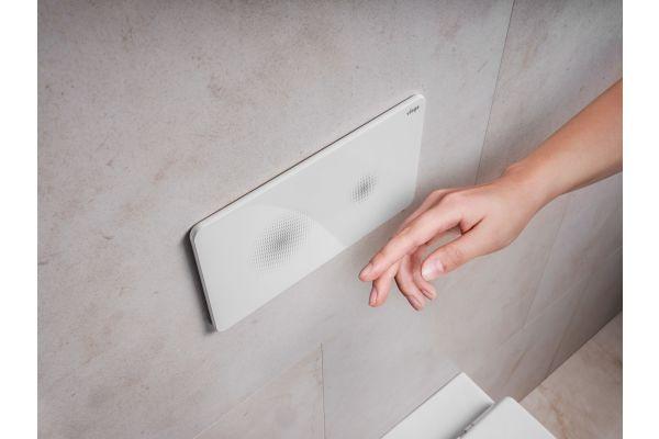 """Das Bild zeigt die WC-Betätigungsplatte """"Visign for Style 25 sensitive""""."""