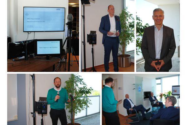 Das Bild zeigt Impressionen von der Online-Mitgliederversammlung.