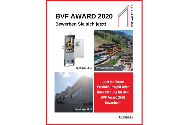 Bewerbungsphase für den BVF Award 2020 gestartet