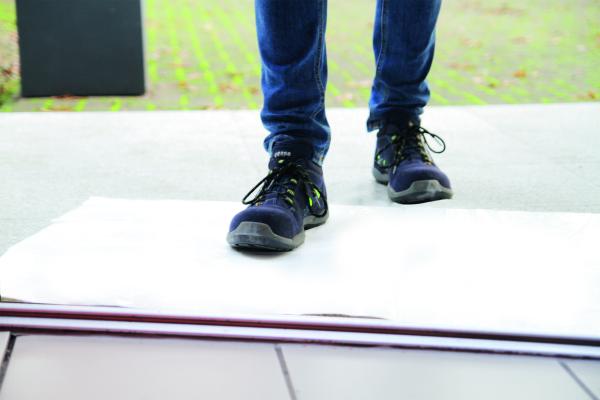 Heylo-Staubschutzmatte für Baustellen und Besichtigungen