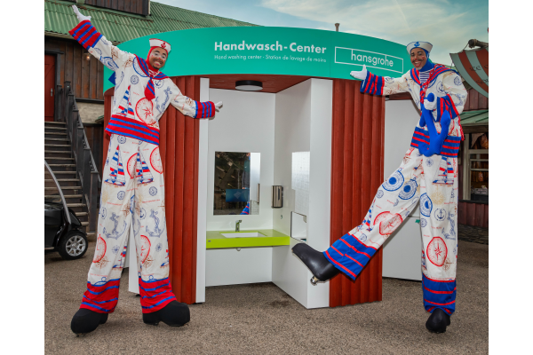 Neues Hansgrohe-Handwasch-Center