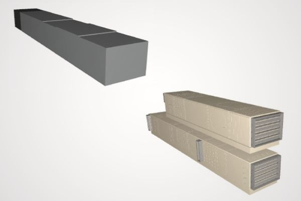 Zwei LOD-Beispiele eines RLT-Gerätes.