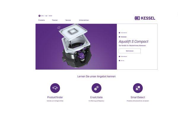 Das Bild zeigt die neue Website.