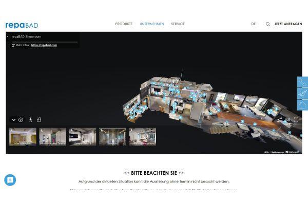 Das Bild zeigt Einblicke in die virtuelle Ausstellung.