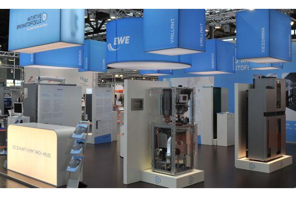 Brennstoffzellen-Heizgeräte auf der Hannover Messe.