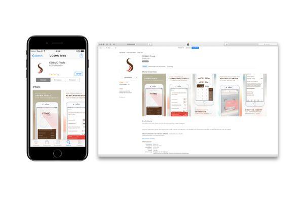 Vorschau der Cosmo-App im App-Store.